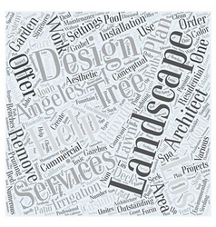 Landscape architect Los Angeles Word Cloud Concept vector