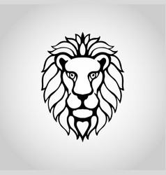 Lion isolated on white background vector