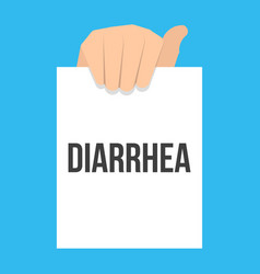 man showing paper diarrhea text vector image