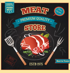 Meat Store Poster vector image