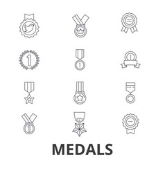 medals trophy gold medal award medallion vector image