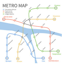 Metro subway train map urban vector