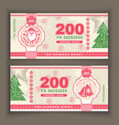 money banknotes with portrait of vector image