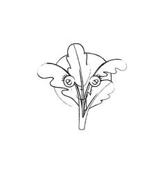 Monochrome blurred silhouette of caricature stem vector