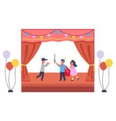 musical concert in school children s theatrical vector image