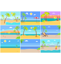 nature sea beaches collection vector image