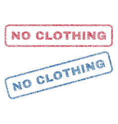 No clothing textile stamps vector