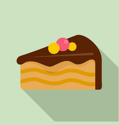 Piece cake icon flat style vector