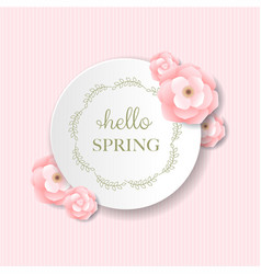 Postcard pink flowers vector