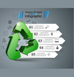 recycle business infographic four items vector image