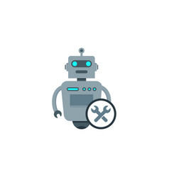 repair robot logo icon design vector image