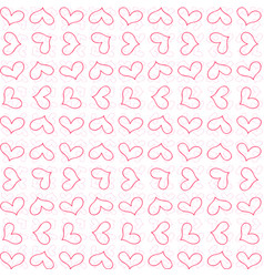 retro cute seamless pattern with pink outline vector image