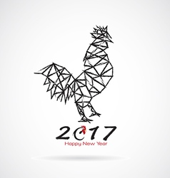 Roosters 2017 new year vector image