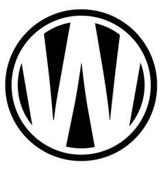 Round w logo vector