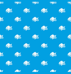 sea food pattern seamless blue vector image