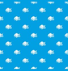sea food pattern seamless blue vector image