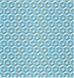 Seamless blue volume 3d background geometric vector