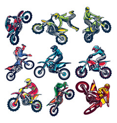 set motocross vector image
