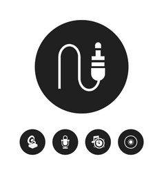 Set of 5 editable audio icons includes symbols vector