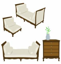 set of antique elements vector image