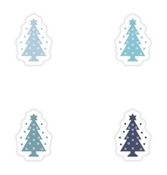 Set of paper stickers on white background hanukkah vector