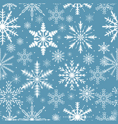 snowflakes seamless pattern frosty repeating vector image