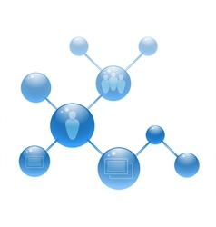 Social media circles vector