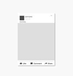 social network post frame flat design vector image