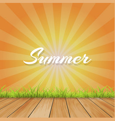 summer background with text - with retro vector image