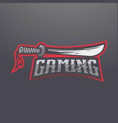 sword logo design with modern vector image