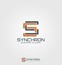 synchron - monogram letter s logo vector image