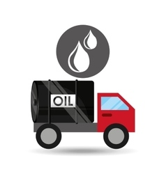 Tank truck oil drop icon vector