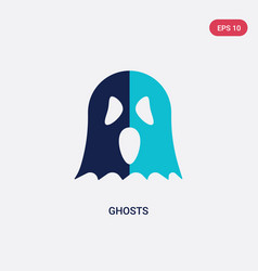 two color ghosts icon from halloween concept vector image