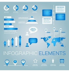 collection of infographic elements vector image