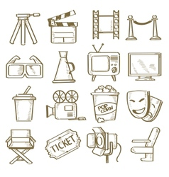 hand drawn movie vector image vector image