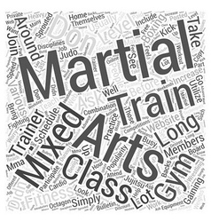 Mixed martial arts training gym word cloud concept vector