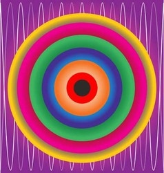 colorfull material design abstract circles vector image