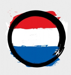Netherlands circle flag vector image