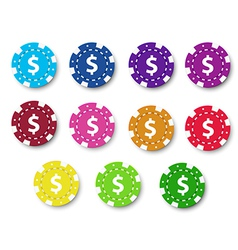 Poker chips collection vector image