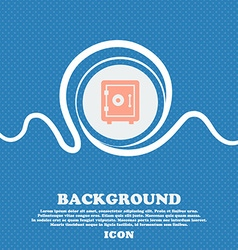 safe icon sign Blue and white abstract background vector image