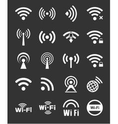 Set of twenty wifi icons vector image vector image