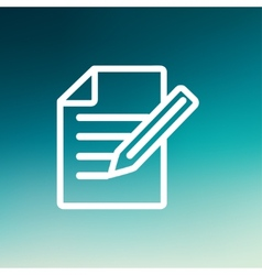 Taking Notes thin line icon vector image