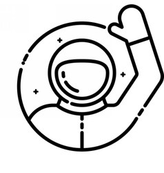 Astronaut welcomes you vector image vector image