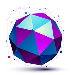 Colorful 3d mesh modern spherical abstract object vector