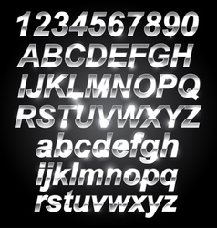 Silver Metal Font vector image