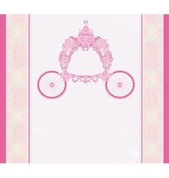 vintage floral carriage invitation vector image