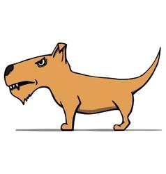 Angry cartoon dog vector image