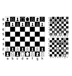 chessboard and chess vector image vector image