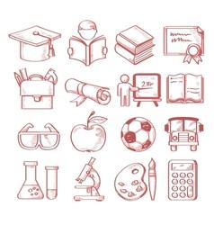 hand drawn education vector image