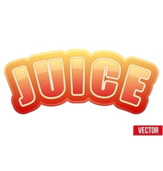 Label for apple juice Bright premium design vector image
